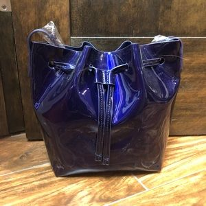 Forever21 Patent Leather Bucket Bag, NWT